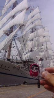 大さん橋、総帆展帆なう